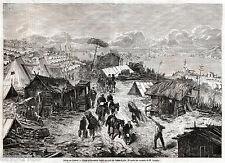 ASSEDIO DI GAETA: Campo Piemontese sul Colle Sant'Agata. Terra di Lavoro. 1861
