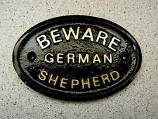 BEWARE OF THE GERMAN SHEPHERD HOUSE DOOR PLAQUE DOG SIGN