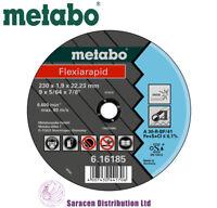 "METABO FLEXIARAPID 9"" INOX METAL CUTTING DISCS 230 x 1.9 x 22.23mm - 616185000"