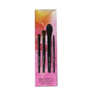 Bobbi Brown Travel Brush Set (4x Brush): Powder Brush + Eye Shadow Brush + 4pcs