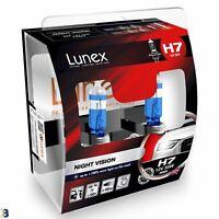 Lunex H7 Halogen Birnen Night Vision 3600K 12V 55W 477 Weiß Premium Set