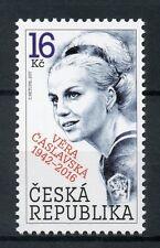 Czech Republic 2017 MNH Gymnast Vera Caslavska 1v Set Gymnastics Sports Stamps