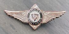 RARE 1920's Dodge Brothers Silver Winged Car Emblem/Badge Brass Era Crest