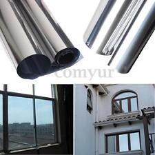 2M Silver Solar Reflective Window Film Paper Insulation Stickers One Way Mirror