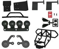 RPM Traxxas Slash 4X4 Complete Bumper Kit Wheelie Bar Mud Flaps Light Canisters