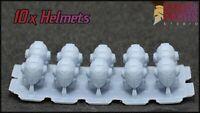 10x Praetorian Helmets - Compatible with Warhammer 40k space marine bits heads