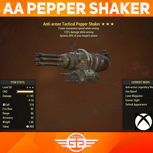 Anti-Armor - Pepper Shaker, AA 25 fmswa PEPPER SHAKER - Fallout76 [XBOX]