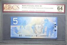 CANADA $5 2005 HOH(9.200-9.400M) - REPLACEMENT - BCS Graded - CHOICE UNC 64