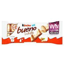 Kinder Bueno White Chocolate 2 finger Bars Pack  (Fresh Stock) 30 x 43g