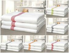 Luxury High Quality Soft Waffle Kitchen Tea Towels 100% Cotton Red Orange Green