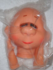 "5"" Doll Head and Hands Bald Head Closed Eyes"