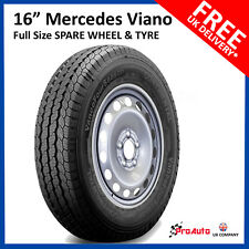 "16"" Mercedes VIANO  2003 - 2016 Full Size Spare Steel Wheel &  205/65 R16C Tyre"