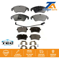 Front Rear Ceramic Brake Pads Kit For Audi A6 Quattro A7
