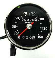 Smiths Style Speedometer 150 MPH 70-78 Black Face 1.25-1 Fits Many Bikes 60-2394