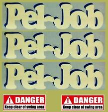 Decals Sticker Set for PEL-JOB (Older Models) mini digger pelle bagger excavator