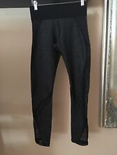 Michi Womens Leggings Gray w Blk See Threw Inserts And Mesh Size Small
