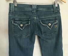 Miss Me Jeans Sz 26 Florence Boot Factory Distressed Flap Pocket Low Rise