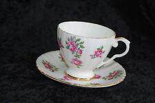 Royal Grafton Bone China Pink RosesTeacup and Saucer