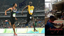 ANDRE DE GRASSE SIGNED 8x10 PHOTO EXACT PROOF COA AUTOGRAPHED OLYMPIC SPRINTING