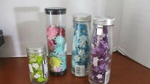 Set of 4 Containers PRIMA GOT FLOWERS Silk SCRAPBOOKING EMBELLISHMENTS
