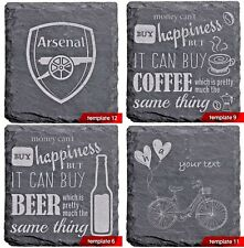 1xNatural Slate Coaster Personalised Laser Engraved Any Ocasion