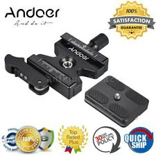 """Andoer Universal QR Clamp +Quick Release Plate 1/4"""" Screw Mount For Arca Swiss"""