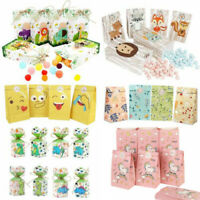 12× Birthday Party Loot Bag Paper Sweet Treat Candy Bag Gift Box Popcorn Holder