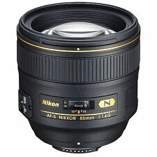 Nikon AF-S Nikkor 85mm F/1.4G Lens w/FREE Hoya NXT UV Filter *NEW*