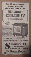 1964 Standard TV & Appliances - RCA Victor Color TV -Atlantic City Advertisement