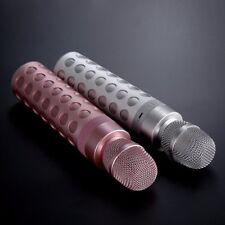 Portable Wireless Karaoke Microphone Mini Handheld Built-in Bluetooth Spkr Pink