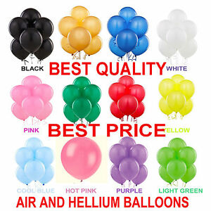30 -100 Latex LARGE Helium Good Quality for Party Birthday Wedding Balloons