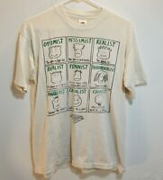Vintage 90s Thrashed Trashed Distressed facial expressions personalitees T Shirt