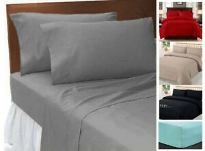 100% EGYPTIAN COTTON 500 THREAD COUNT 26 CM DEEP FITTED SHEET + FREE PILLOW PAIR
