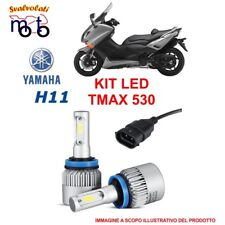 FARI LED YAMAHA TMAX T-MAX 530 H11 6000K CON CELTRALINE LUCE BIANCA ANNO 2014