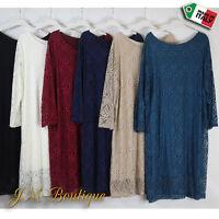 Italian Exclusive Dress Lace Party Evening Plus Size 22 24 26 28