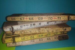 5 Vintage Klein Tools Inc No 900-6 Foldable Ruler Evans Lufkin USA Made