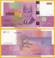 Comoros 5000 Francs p-18b 2006 UNC Banknote