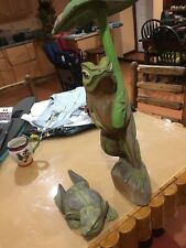 Two Wooden Frogs Stand/Carving/Statue Approx. 26 Inches Tall And11 Inches Long