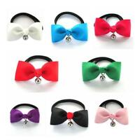 Cat Collar Velvet Bow Tie Safety Elastic Bell Kitten 6 Colors Free Shipping