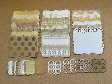 44 Piece Sizzix Stampin Up Top Note, Lattice & Tag Set - Gilded Cardstock w/Foil