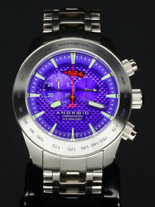 Android AD461 Maxjet Chronograph Purple 48mm Watch - Stainless Swiss Quartz