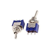 10PCS Mini 6A 125V AC SPDT MTS-102 3Pin 2 posición en-en Interruptor Nuevo