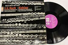 "J.S.Bach Sonata No1 in B Minor For Flute / Kuhlau: Two Duets LP 12"" (G)"