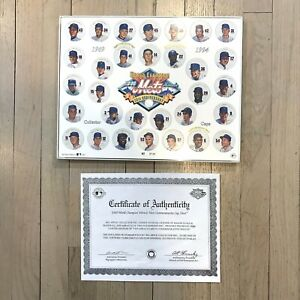 World Champion 1969 Miracle Mets 25th Anniversary Commemorative Cap Sheet COA