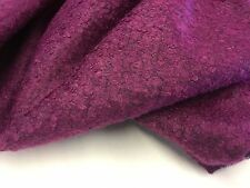 "New Designer Mulberry Colour Wool Boucle Fabric 56"" 142cm Material Garment Cloth"