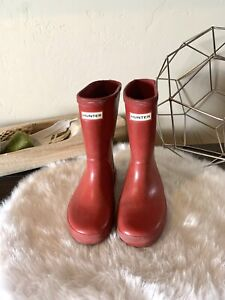 Hunter Classic Tall Toddler Boots Red Size 13 Girls 12 Boys