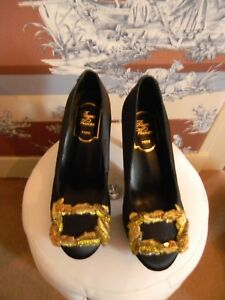 Gossip girl  Cinderella celebrity Haute Couture satin heels new size 38 Eu 7 US
