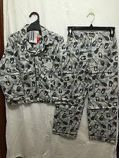 BNWT Boys Sz 10 Cool Guitar Print Long Style Flannel Winter Style PJ Pyjamas