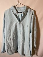 Ralph Lauren Mens Classic Fit Shirt Size 3XB Blue Long Sleeve Button Down