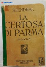 J 5863 LIBRO LA CERTOSA DI PARMA DI STENDHAL VOLUME DOPPIO 1931